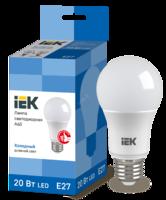 Лампа LED Е27 20W 6500 A60 шар   ИЭК