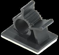 Клипса самоклеящаяся КС-10 черная (24 шт)