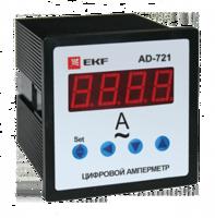 Амперметр AD-721 цифровой на панель (72х72) 1ф  EKF PROxima