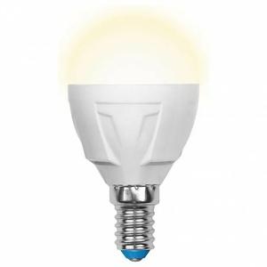 Лампа LED Е14 6W 3000 G45 шар диммер Uniel распродажа, 4978