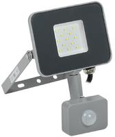 Прожектор светодиодный СДО07-10Д 10W  IP54 6500К с ДД серый   ИЭК