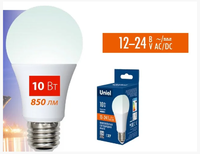 Лампа LED Е27 10W 4000 А60 12-24V Uniel